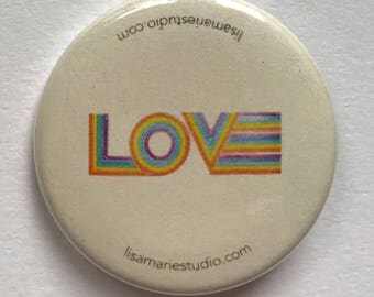 LOVE button by artist Lisa Marie Thalhammer
