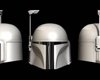 Star Wars Boba Fett 3D Helmet.