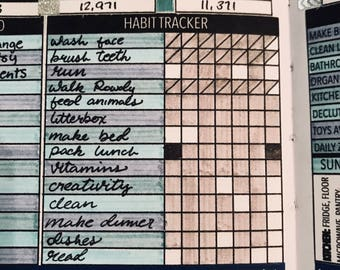 Habit Tracker for Passion Planner, Bullet Journal Planner Stickers, Tracker Stickers