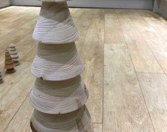 Wooden Christmas tree hand turned