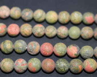 15 Inches Full strand,Unakite matte round beads 6mm 8mm 10mm 12mm beads,loose beads,semi-precious stone