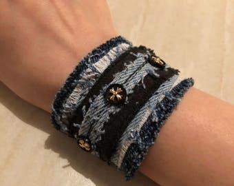 Custom Denim Bracelet