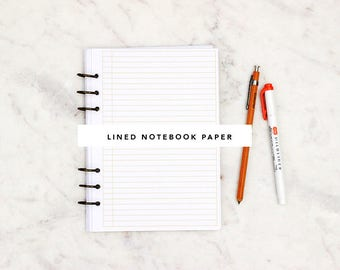 Lined Notebook Paper (A5)