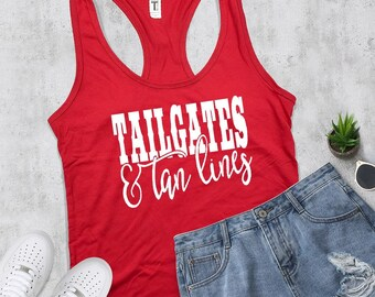 Tailgates and Tanlines Tank Top, Country Shirt, Country Tank, Summer Tank, Summer Shirt, Country Girl, Country Concert