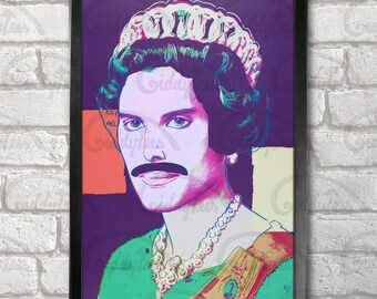 Queen Freddie Mercury print + 3 for 2 offer! size A3+  33 x 48 cm;  13 x 19 in