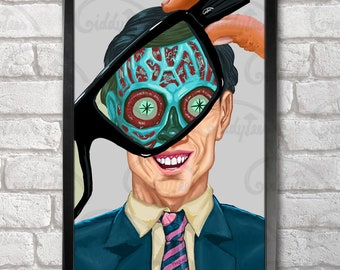 They Live print + 3 for 2 offer! size A3+  33 x 48 cm;  13 x 19 in