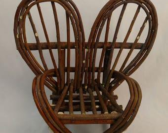 Miniature Willow Heart Chair