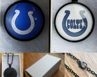 Colts Necklace- Cabochon Pendant chain