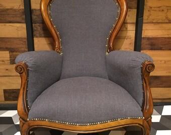 Victorian Reproduction Spoonback Armchair