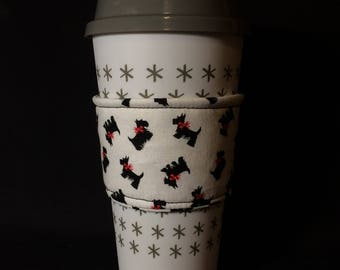 Reusable Coffee Cup Sleeve (Scottie Dogs)
