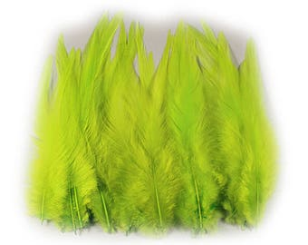 Rooster Feathers Chartreuse 10310