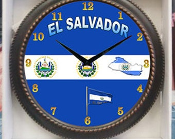 El Salvador Clock  Decor wall Clock