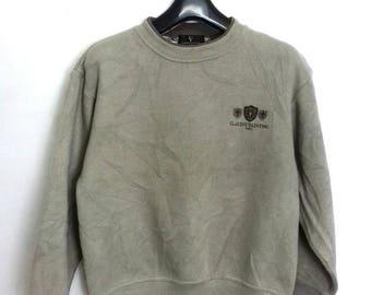 Vintage Claudio Valentino paris sweatshirt crewneck jumper embroided logo small size
