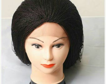Full frontal Micro twists braided wig