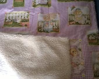 Pram Blanket, Baby Blanket, Spring Baby Blanket, Stroller Blanket, Nursery Blanket, Nursery Decor, New Baby Gift, Baby Shower Gift