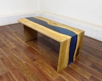 Land and River Oak and Resin Coffee Table
