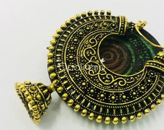 Gold Sun Earrings, handmade earrings, tribal, gold earrings, asian jewelry, indian jewelry, gold jewelry, ethnic, jewelry for women, boho