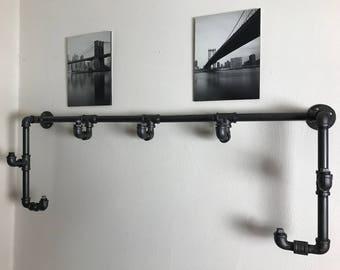 Iron/Black hammered Pipe Coat Rack