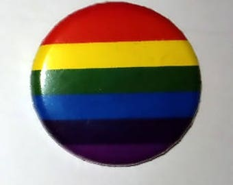 Gay pride flag pin