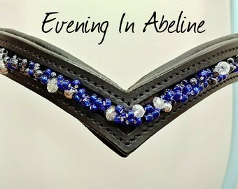 Custom Blue/Black Ombre Browband