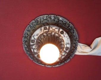 1920s Gothic Arts & Crafts Flush Mount Ceiling Fixture
