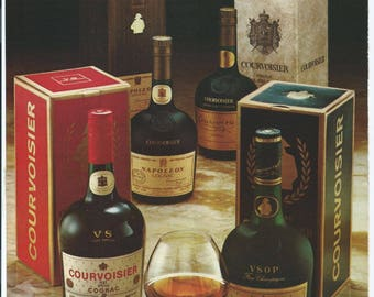 Vintage 1979 Why Give Less than Courvoisier Print Ad