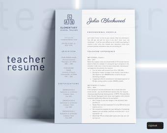 Elementary Teacher Resume Template Instant Download Teacher CV Template Resume for Teachers Teaching Resume School Teacher Resumes Template