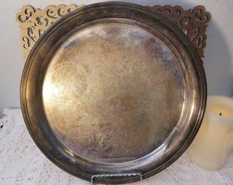Pilgrim silverplate tray
