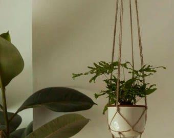 Natural Jute plant hanger. 100% handmade. 120cm.