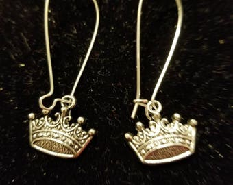 Boutique Silver Alloy ...Lovely My Little Princess Pageant Tiara Earrings #C71