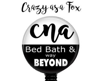 CNA Bed Bath & Way Beyond Retractable Badge Holder, Badge Reel, Lanyard, Stethoscope ID Tag, CNA Gift,