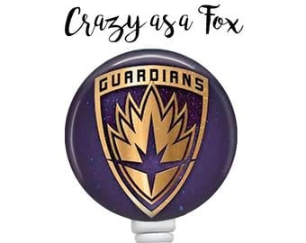 Guardians of the Galaxy Retractable Badge Holder, Badge Reel, Lanyard, Stethoscope ID Tag, Teacher, Nurse md rn cna pa student Gift