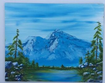 Mount Shasta Oil Painting