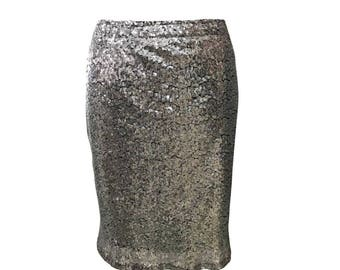 Claire Sequin Skirt