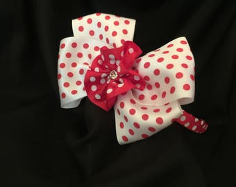 Red and White Polka Dot Hedband