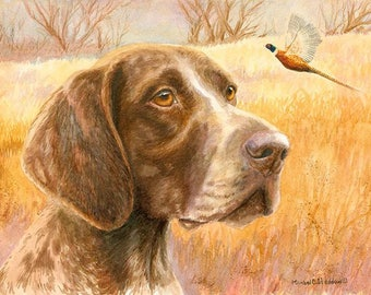 Fall A Limited Edition German Shorthaired Pointer Print