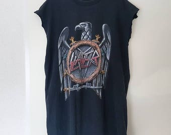 VERY RARE 1990 Slayer European Tour Shirt (XL)