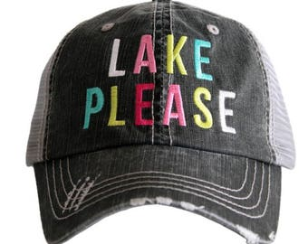 LAKE PLEASE (MULTICOLORED) Trucker Hats
