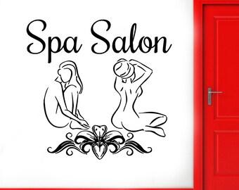 Wall Decal Window Sticker Beauty Salon Spa decal massage decal spa salon decals t87