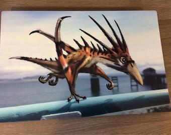 Dragons of Wales Chromaluxe Panel 30cm x 20cm