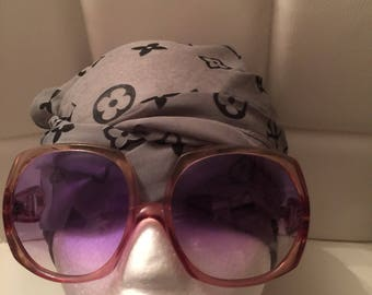 Vintage 1970's Sunglasses Made in Italy Glamour