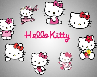 Hello kitty svg - Vinyl Decals - SVG - PNG - EPS - Printable - Hello Kitty Stickers - Clipart - Scalable Image - Vectorial Image