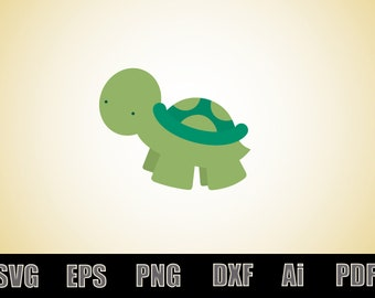 Cute baby turtle SVG - svg cut file - vinyl decal - printable - scalable - vectorial - cute baby turtle - clipart - silhouette - cricut