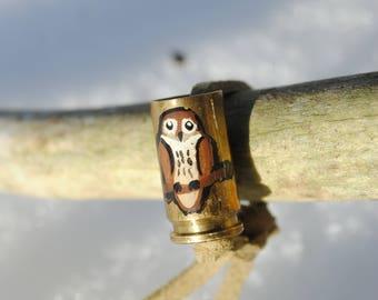 Cute Owl on 9mm Casing Bracelet