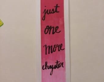 Handmade Watercolor Bookmark