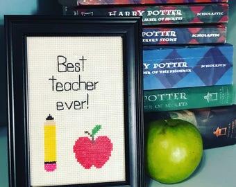 Teacher Appreciation Framed Art