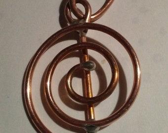 Reiki copper Cho Ku Rei spiral coil
