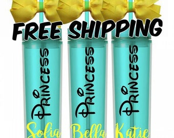PERSONALIZED TUMBLER / Yellow & Teal