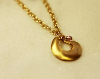 Gold Swag Chain Necklace | Retro Circle Gold Plated Necklace With Bead | Gold Chain and Pendent Necklace