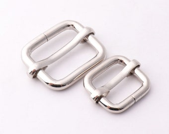"10pcs Silver Adjuster buckle 3/4""inch (19mm) 1/2""inch (13.5mm) Belt Buckle Adjustable Slide Buckle Strap buckle Strap slider strap buckle"